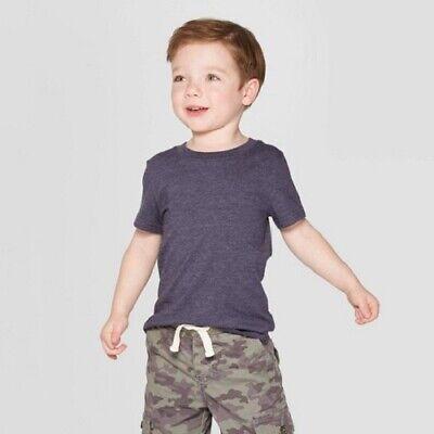 CAT /& JACK Boys/' Striped Navy Pocket Short Sleeve T-Shirt Gray