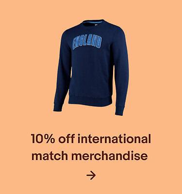 10% off international match merchandise