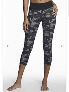 Fabletics Women's Black Camo Camouflage Lima Capri Athletic Leggings, Size Small