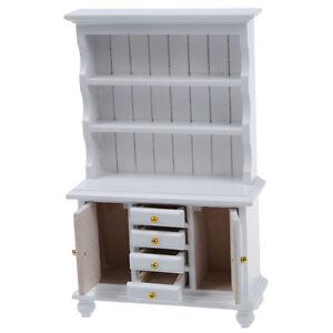 1-12-Dollhouse-Miniature-Furniture-Multifunction-Wood-Cabinet-Bookcase-SZHKDT