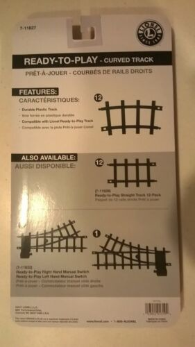 12 Lionel Ready To Play CURVED TRACK Lot-Polar Express Mickey Mouse John Deere