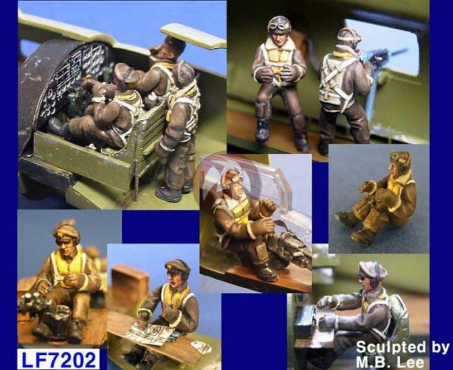 Legend 1/72 B-17 Flying Fortress Heavy Bomber Crew Set WWII (10 Figures) LF7202