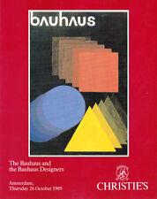 BAUHAUS Christie's 1989 | Christian Dell Brandt Breuer Lindig Mies Van Der Rohe