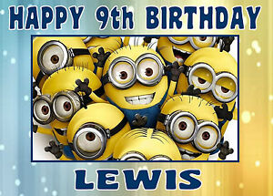 EDIBLE-ICING-DESPICABLE-ME-MINIONS-HAPPY-BIRTHDAY-NAME-AGE-CAKE-CUPCAKE-TOPPER