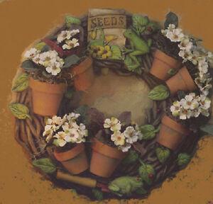 Ceramic Bisque Ready to Paint Flower Pot Wreath