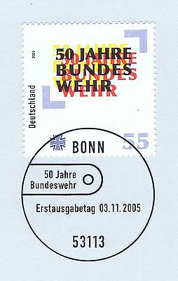 Brd 2005: Bundeswehr 50 Jahre! Nr. 2497 Mit Bonner Ersttagssonderstempel 1a 1906 Bequem Zu Kochen