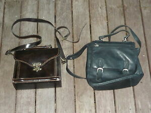 2x-Leather-Womens-Shoulder-Bag-Crossbody-Mens-Messenger-amp-Backpack-Joan-Weisz