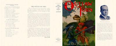 Edgar Rice Mcclurg Modischer Selbstlos Burroughs Stil; In The Outlaw Of Torn Faksimile Dust -umschlag 1