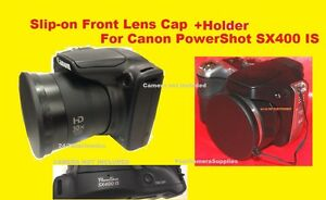 FRONT-SLIP-ON-LENS-CAP-to-CAMERA-CANON-POWERSHOT-SX400-IS-SX400IS-SX-400-HOLDER