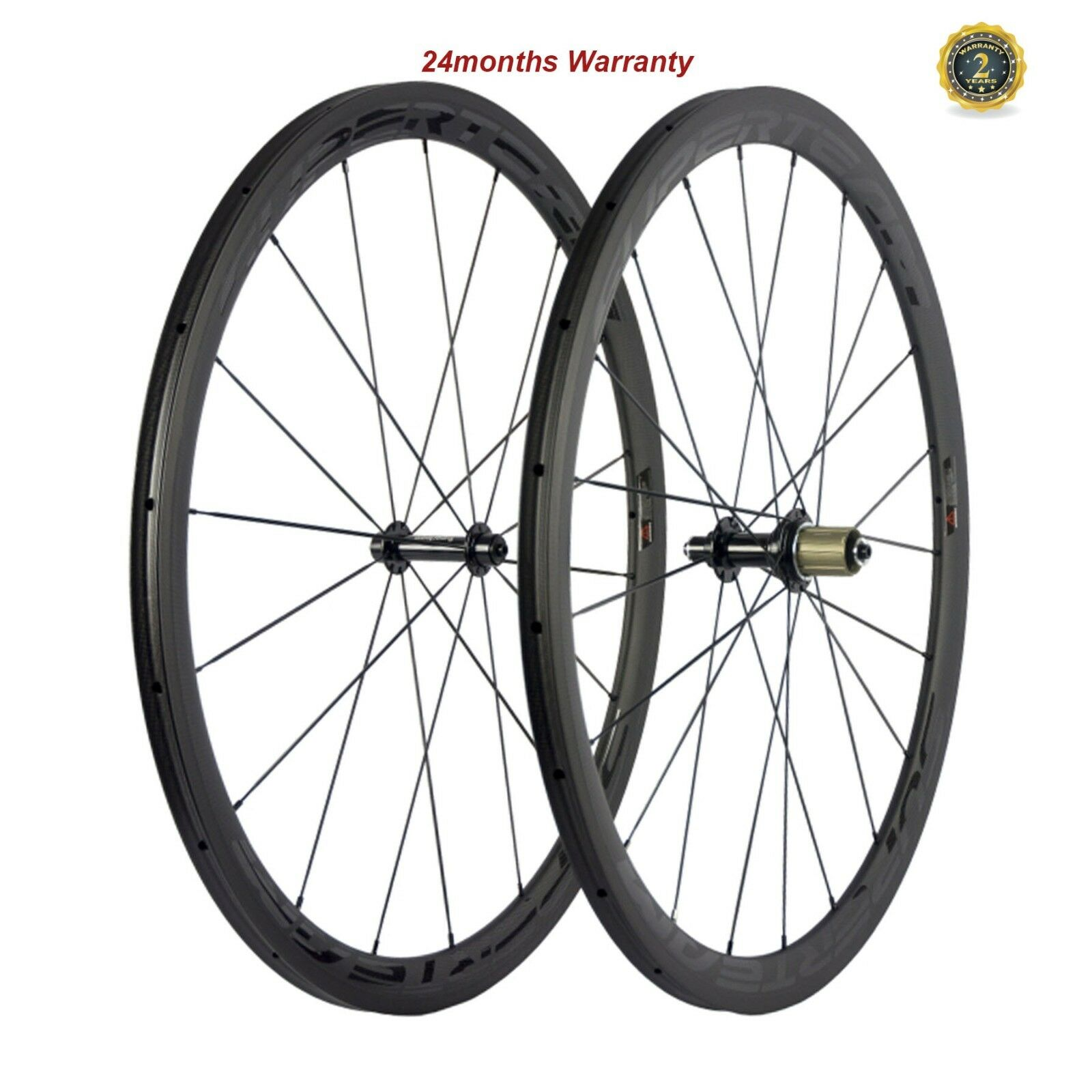 SUPERTEAM  Carbon Fiber Cycling Wheelset 23mm Width 38mm Tubular Wheels R13 Hubs  sales online