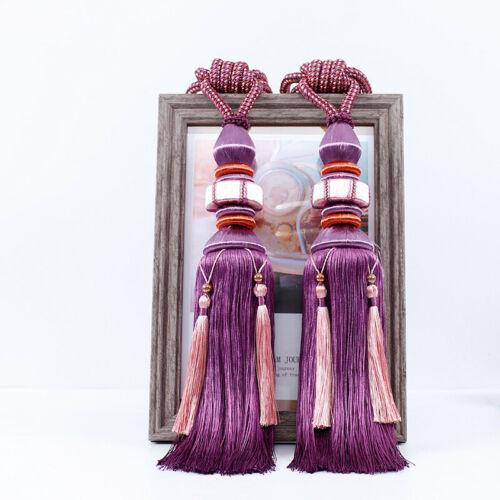 1 Pair Luxury Tassel Curtain Rope Tieback HoldBacks Tie Backs Home Decor