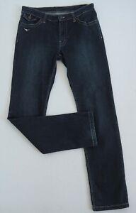 Women Ladies New Mid Blue High Waist Stretch Denim Straight Leg Jeans UK 6-16