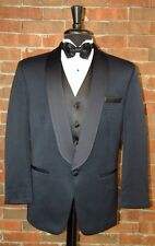 MENS 36 S NAVY BLUE  SHAWL TUXEDO JACKET / PANTS / SHIRT / BOW by AFTER SIX