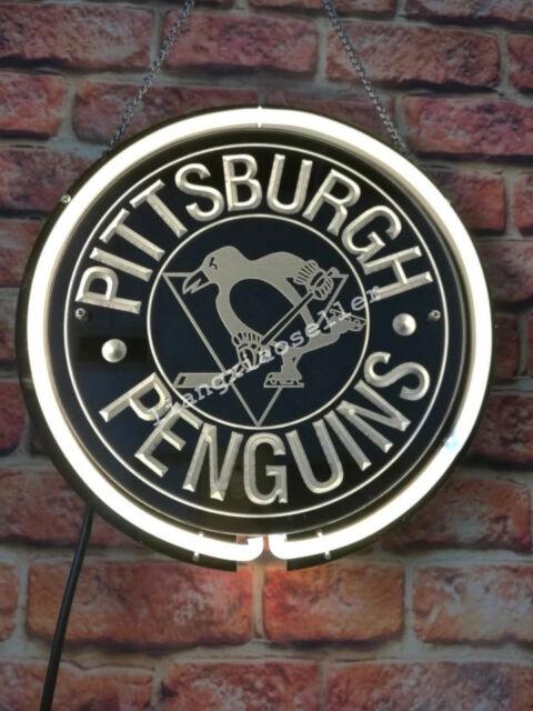 New Nhl Pittsburgh Penguins Acrylic Beer Bar Pub Real Neon Sign Free Ship