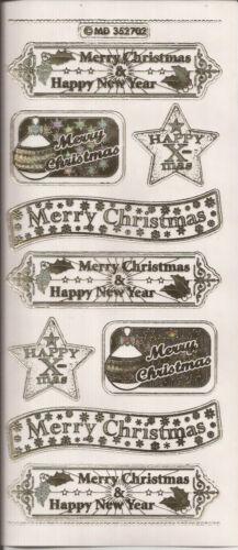 017 - Embossed MD Peel Offs  Christmas Words