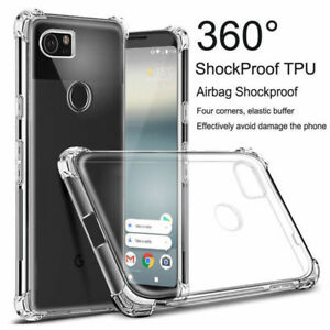 Clear-Bumper-TPU-Gel-Jelly-Flexible-Case-Cover-For-Google-Pixel-2-Pixel-3-XL