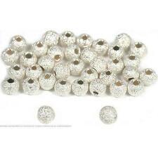 36 Sterling Silver Stardust Ball Beads 3mm