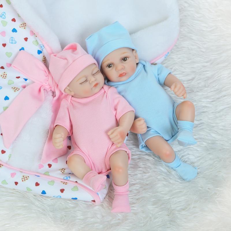 Realistic Reborn Dolls Baby Lifelike Vinyl Fake Girl Boy Newborn Xmas Gift Toy 8