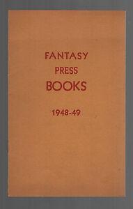 Scarce-Fantasy-Press-Publishers-Catalog-of-Books-for-1948-49-Nice-copy
