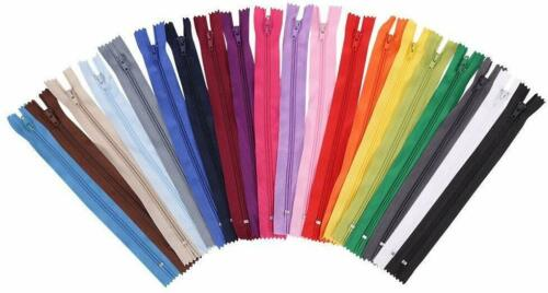 Vardhman Polyester Auto-Lock 8-inches Zip for Pants Dress Multicolour Frocks