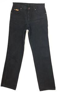 Wrangler-Jeans-Texas-Herren-W32-L34-Schwarz-Straight-Denim