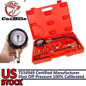 0-140PSI-Fuel-Injection-Pump-Injector-Tester-Test-Pressure-Gauge-Gasoline-w-Case