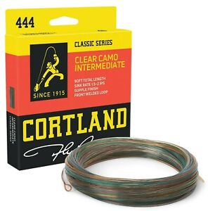 Cortland-444-Clear-Camo-Intermediate-Fly-Line-ALL-SIZES-FREE-FAST-SHIPPING