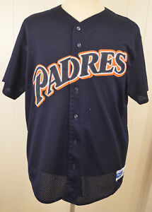 Majestic-San-Diego-Padres-MLB-Baseball-Jersey-9-Adult-XL-Blue