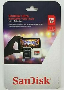 SanDisk Ultra 128GB microSDXC UHS-I Card with Adapter SDSQUNC-128G-AULMA