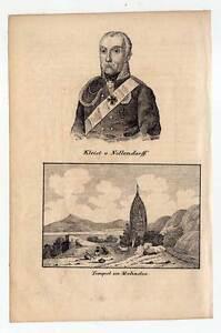 Mahadeo Tempel-indien Friedrich Von Kleist Lithographie 1840 Lange Lebensdauer Portrait