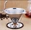 Acier Inoxydable Filtre à Café Filtre Mailles Avec Support Tea Dripper pour entonnoir