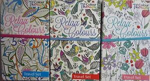 Travel-Adult-Colouring-Set-12-Colouring-Pencils-2-Colouring-Books-Stress-Relief