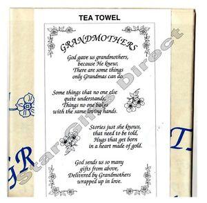 Image Is Loading TEA TOWEL GRANDMOTHERS Birthday Gift NEW Grandma SENT