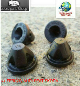 4x-FEBI-VW-AUDI-SEAT-SKODA-Socket-For-Engine-Cover-Rubber-Fastener-38850-3G10318
