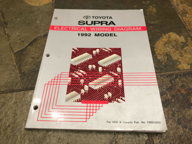 1992 Toyota Supra Wiring Diagrams Electrical Service