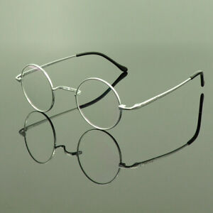 Pure-Titanium-Eyeglass-Frames-Spectacles-Round-Vintage-Retro-Mens-Womens-HFA763