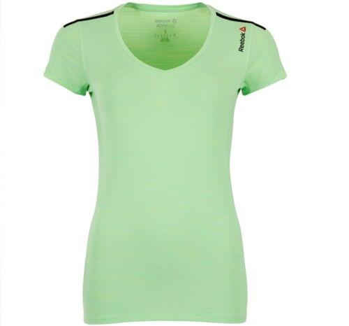 Ladies Women/'s Gym Training Fitness Running Yoga Green New Reebok T-Shirt Top