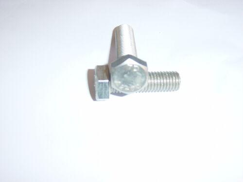 10off M12 x 40mm  A2 STAINLESS STEEL HEXAGON HEAD SETSCREWS FULLY THREADED BOLTS