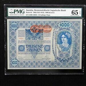 Austria-1902-ND-1919-1000-Kronen-Pick-61-PMG-65-EPQ-Gem-Uncirculated