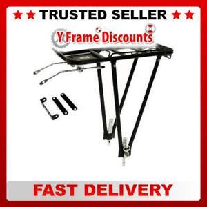 Adjustable Black Alloy Bike / Cycle Rear Pannier Rack