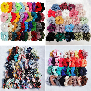 2019-Velvet-Hair-Scrunchies-Hair-Ties-Bun-Ring-Chiffon-Silk-Scrunchy-Elastic-Lot