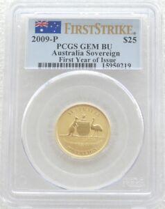 2009 Australia First Strike Sovereign 25 Dollar Gold Coin PCGS GEM