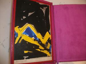 abstrait-LEWIGUE-ROUSSELOT-Au-propre-1975-aquarelle-originale-reliure-d-039-art