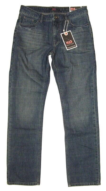 HIS Herren Jeans RANDY 31 34 o.32 34 33 34 34 34 38 34 DARK WASH 1005  | Stilvoll und lustig