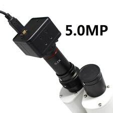 HD 5mp Microscope USB CMOS Camera Electronic Eyepiece W/ 0.5x C-mount Lens