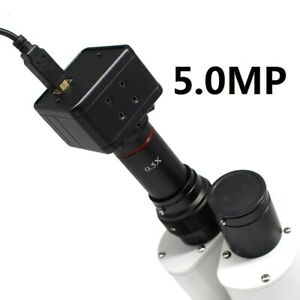 5MP-USB-CMOS-Camera-Microscope-Digital-Electronic-Eyepiece-w-0-5X-C-Mount-Lens