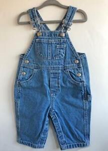 Classic-Baby-GAP-Overalls-Boys-Pants-Small-3-6-Months-Cotton-Denim-Blue-Jeans