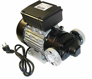 1Stk-230V-100L-min-Heizoel-Dieselpumpen-Olpumpe-Tankstelle-Hoftankstelle-Pumpe