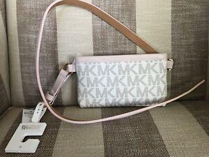 a94cca6cdd01 Michael Kors MK Signature Logo Belt Wallet Fanny Pack Waist XL Bag ...
