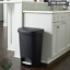 thumbnail 1 - Trash Can 13 Gallon Slow Close Indoor No Smell Durable Plastic Step On Black